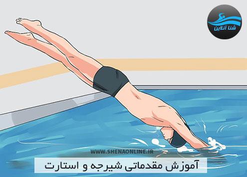 آموزش شیرجه و استارت در شنا